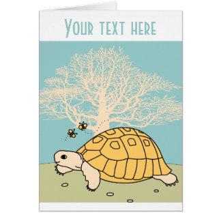 Customizable Golden Greek Tortoise Card