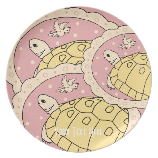 Customizable Golden Greek Tortoise Plate