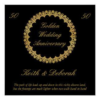 Customizable Golden Wedding Anniversary Poster