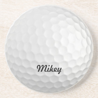Customizable Golf Ball Sandstone Coaster