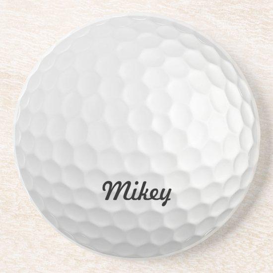 Customizable Golf Ball Sandstone Coaster