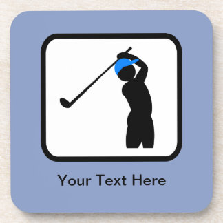 Customizable Golfer Logo Coaster