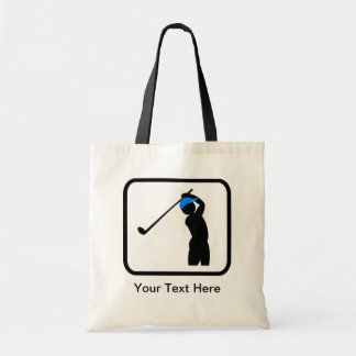 Customizable Golfer Logo Tote Bag