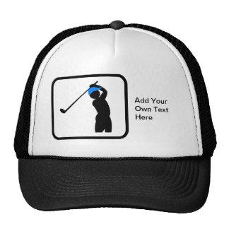 Customizable Golfer Logo Trucker Hat
