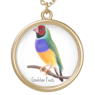 Customizable Gouldian Finch Necklace