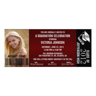 Customizable Graduation Admission Ticket Invite