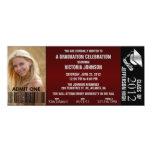 "Customizable Graduation Admission Ticket Invite 4"" X 9.25"" Invitation Card"