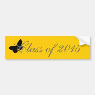 Customizable Graduation - Black and Gold Butterfly Bumper Sticker