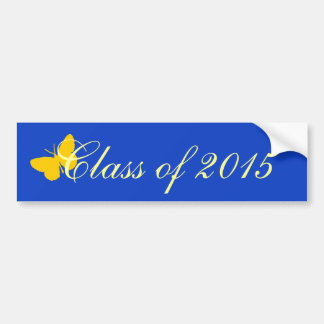 Customizable Graduation - Blue and Gold Butterfly Bumper Stickers