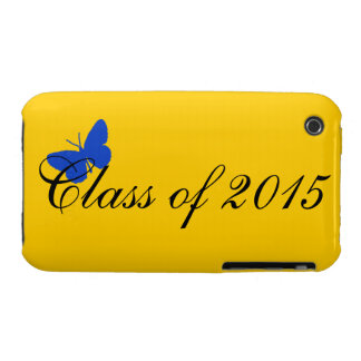 Customizable Graduation - Blue and Gold Butterfly iPhone 3 Cases