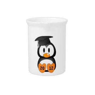Customizable Graduation Penguin Drink Pitcher