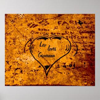 Customizable Grafiti Heart Photo Poster