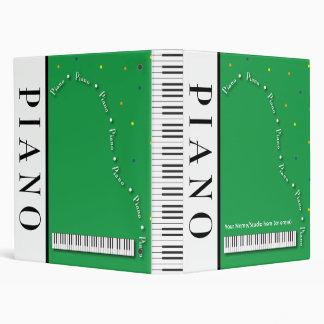 "Customizable Grand Piano 1"" Binder"