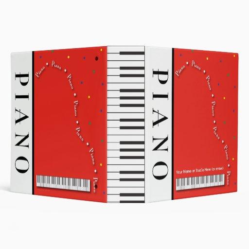 "Customizable Grand Piano 2"" Binder"