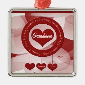 Customizable Grandmother's Valentine's Day Ornamen Christmas Tree Ornament