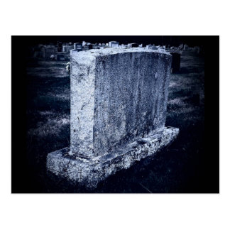 Customizable Gravestone Themed Postcard