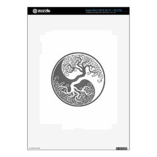 Customizable Gray Tree of Life Yin Yang iPad 3 Decal