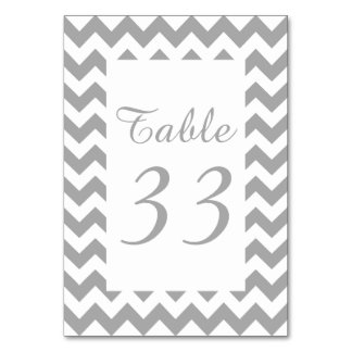 Customizable Gray Zigzag Numbered Card