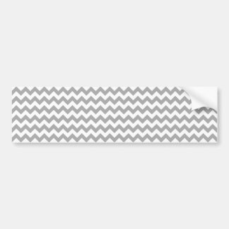 Customizable Gray Zigzag Pattern Bumper Sticker
