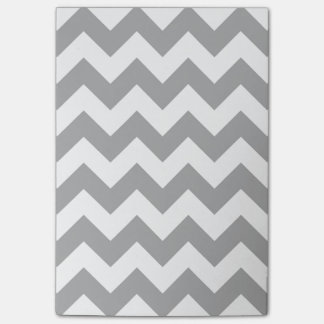 Customizable Gray Zigzag Pattern Post-it Notes