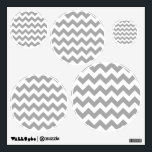 """Customizable Gray Zigzag Pattern Wall Decal<br><div class=""""desc"""">You can create your own gray zig zag patterned design by customizing the background color. Pick your favorite color or coordinate with your home decor. The chevron pattern is a seamless tile so you can also scale the image in or out to change the look.</div>"""