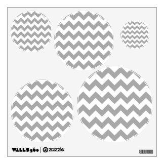 Customizable Gray Zigzag Pattern Wall Decal