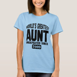 Women's Basic T-Shirt with Undefeated Aunt design
