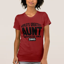 Women's American Apparel Fine Jersey Short Sleeve T-Shirt with Undefeated Aunt design