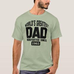 Men's Basic T-Shirt with Custom World's Greatest Dad design