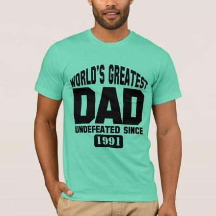 2afafca32 Custom World's Greatest Dad Men's Basic American Apparel T-Shirt ...