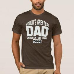 Men's Basic American Apparel T-Shirt with Custom World's Greatest Dad design