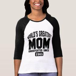 Ladies Raglan Fitted T-Shirt with Custom Greatest Mom design