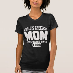 Women's American Apparel Fine Jersey Short Sleeve T-Shirt with Custom Greatest Mom design