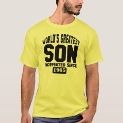 Men's Basic T-Shirt with Customizable Greatest Son design