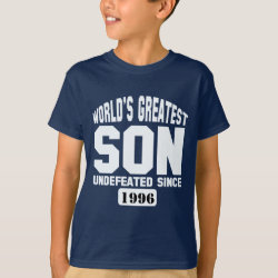 Kids' Hanes TAGLESS® T-Shirt with Customizable Greatest Son design