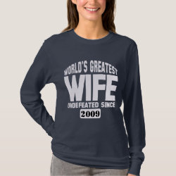 Women's Basic Long Sleeve T-Shirt with Undefeated Wife design