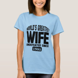 Women's Basic T-Shirt with Undefeated Wife design