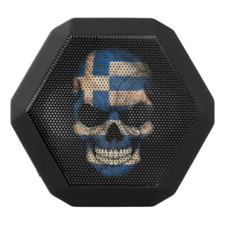 Customizable Greek Flag Skull Black Boombot Rex Bluetooth Speaker