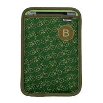 customizable green bicycle pattern sleeve for iPad mini