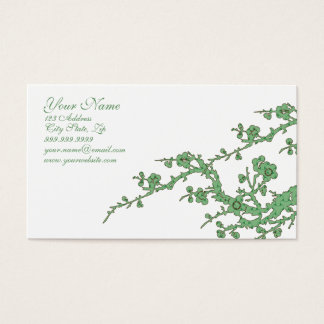 Customizable Green Business Profile Card