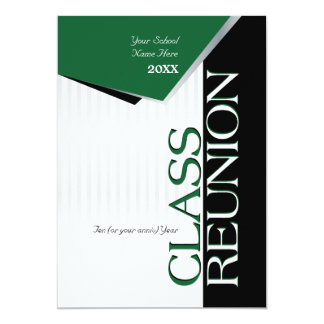 Customizable Green Class Reunion Invitation