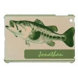 Customizable green fish mini ipad case