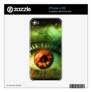 Customizable Green Halloween Nightmare Decals For iPhone 4S