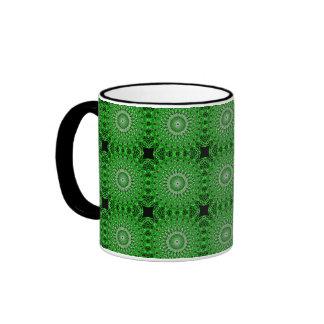 customizable green kaleidoscope coffee mug!