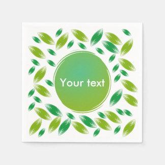 Customizable green petals napkin