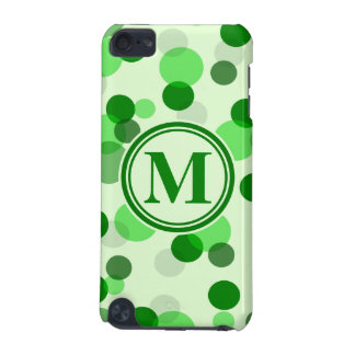 Customizable Green Spots Monogram iPod Touch (5th Generation) Case