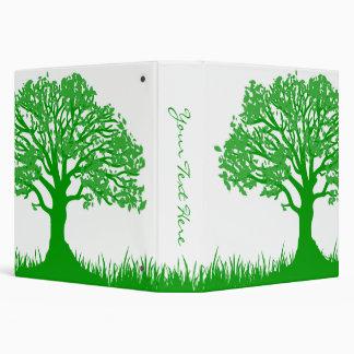 Customizable Green Tree Binder 3 Ring Binders