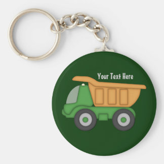 Customizable Green Truck Key Chains