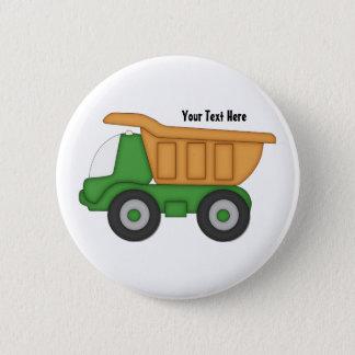 Customizable Green Truck Pinback Button