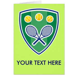 Customizable Greeting Card For Tennis Players